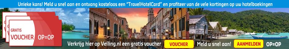 """Unieke kans! Meld u snel aan en ontvang kosteloos een """"TravelHotelCard"""" en profiteer van de vele kortingen op uw hotelboekingen. De aantallen zijn beperkt dus wees er snel bij! OP=OP"""